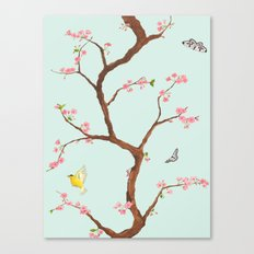 Jenny Chinoiserie on mint Canvas Print