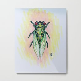 Summer Cicada Bug  Metal Print