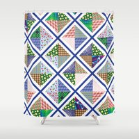 quilt Shower Curtains featuring Pattern Quilt by Cina Catteau