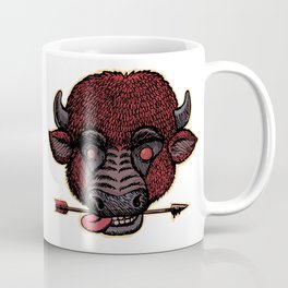bison with a arrow in the teeth Coffee Mug