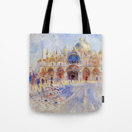 "Auguste Renoir ""The Piazza San Marco, Venice"" Tote Bag"