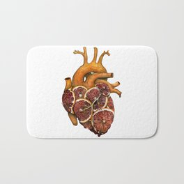Blood Orange Heart Bath Mat