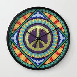 Give Peace a Chance Mandala Wall Clock