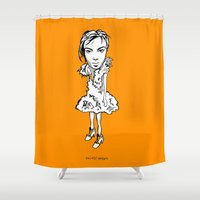 bjork Shower Curtains featuring Bjork by Pat Pot Designs