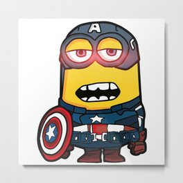 captainAmerica minion Metal Print