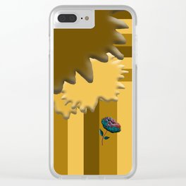 Shades of Brown 2 Clear iPhone Case