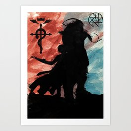FMA - Fullmetal Alchemist - Edward and Alphonse Art Print
