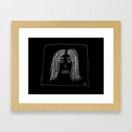Dazed Eyes Full of Broken Dreams Framed Art Print