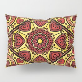 Mandala _ HEARTS Pillow Sham