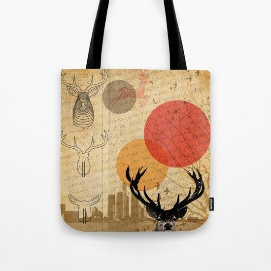 deer in the city Tote Bag