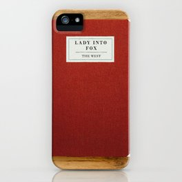 Lady into Fox Book iPhone Case
