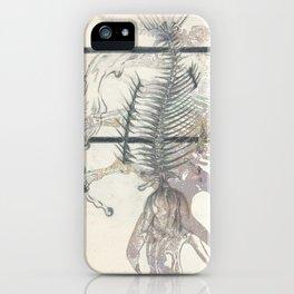 rose-Fish-bone dinosaur iPhone Case