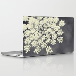 Black and White Queen Annes Lace Laptop & iPad Skin