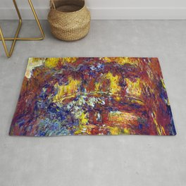 Claude Monet Japanese Footbridge Autumn Rug