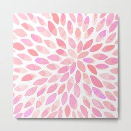 Watercolor brush strokes - pastel pink Metal Print