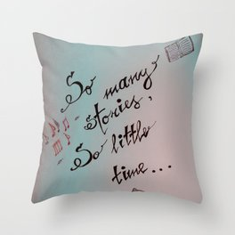 It's story time Throw Pillow
