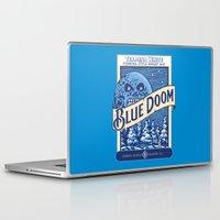 doom Laptop & iPad Skins featuring Blue Doom by Moysche Designs