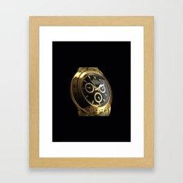 gold watch Framed Art Print