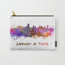 Salvador de Bahia skyline in watercolor Carry-All Pouch