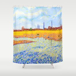 View of John Heinz Nature Reserve Pond Shower Curtain