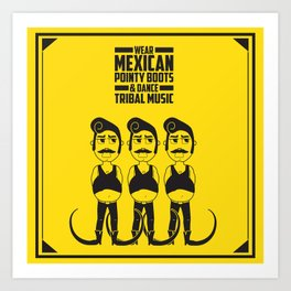 Hector loves tribal music.  Art Print