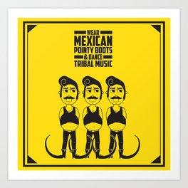Hector loves tribal music.  Art Print