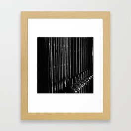 Up & Down, In & Out Framed Art Print