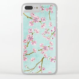 Spring Flowers - Cherry Blossom Pattern Clear iPhone Case