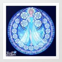 elsa Art Prints featuring Elsa by NicoleGrahamART