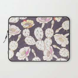 Modern white gold mauve lavender catus floral Laptop Sleeve