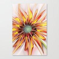 sunflower Canvas Prints featuring Sunflower by Klara Acel