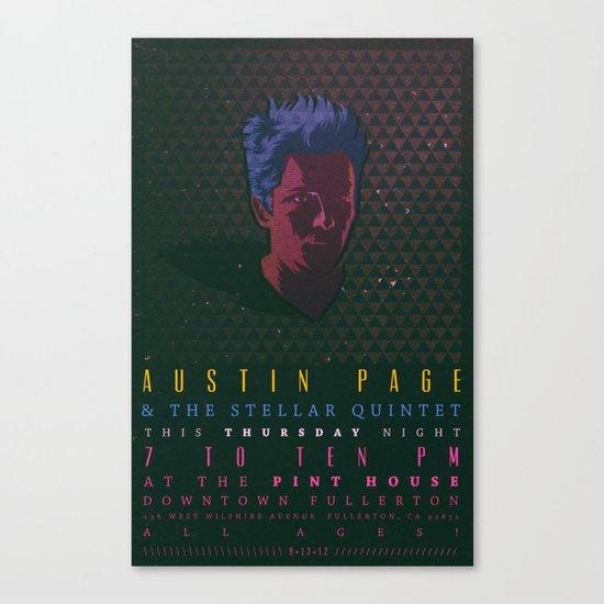 Gig Poster  Canvas Print
