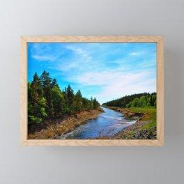 The River Turns Framed Mini Art Print