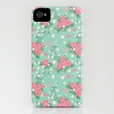 Vintage Roses Pattern iPhone (4, 4s) Slim Case