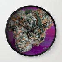 marijuana Wall Clocks featuring Jenny's Kush Medicinal Marijuana by BudProducts.us