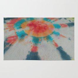 Tie Dye Colorful Bullseye Sunstreaks Rug
