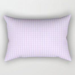 Chalky Pale Lilac Pastel Mini Gingham Check Plaid Rectangular Pillow