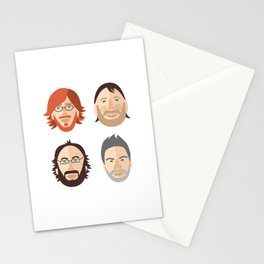 Trey, Fish, Mike, Page as Vector Characters Stationery Cards