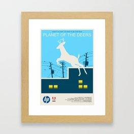 Planet of the Deers Framed Art Print