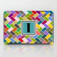 monogram iPad Cases featuring I Monogram by mailboxdisco