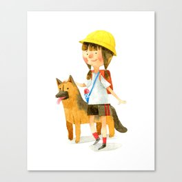 Totochan and Rocky Canvas Print