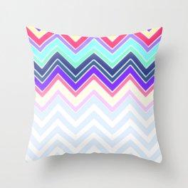 Pastel Chevron Pattern Throw Pillow