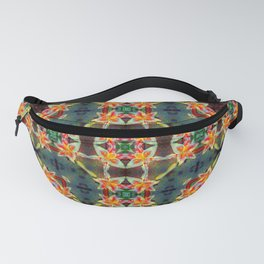 PATTERN ABSTRACT LILIES ORANGE/WHITE Fanny Pack