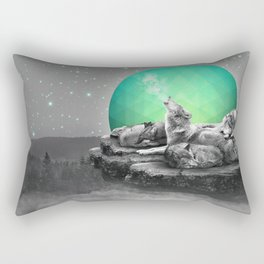 Echoes of a Lullaby / Geometric Moon Rectangular Pillow