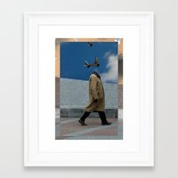 charmaine Framed Art Prints featuring Pigeons by Charmaine de Heij - Travel Photography