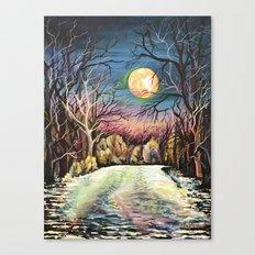 Silent night in Sweden Canvas Print