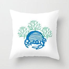 The Blue Cangrejo Throw Pillow