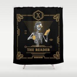 The Reader X Tarot Card Shower Curtain