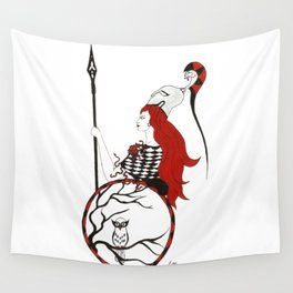 The Lady Athena, Goddess of Wisdom and War Wall Tapestry