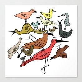 Birds Stacked on Birds Canvas Print